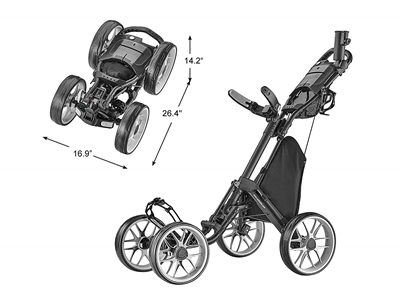 CaddyCruiser ONE-V8 Golf Push Cart