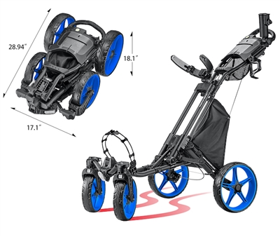 CaddyCruiser ONE Tour Swivel-Wheel Golf Push Cart