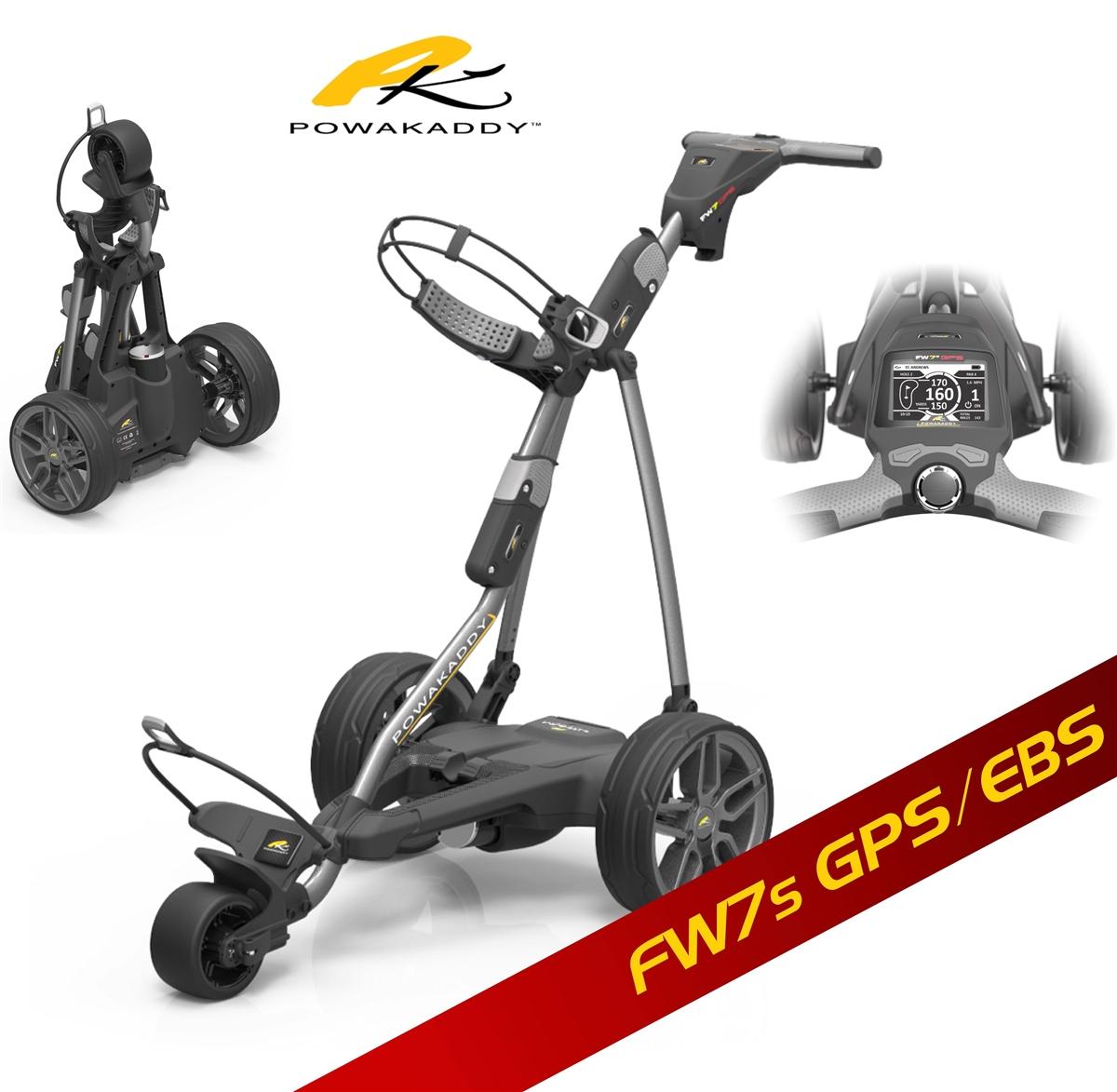 PowaKaddy FW7S GPS/EBS - Lithium Battery Electric Golf Caddy