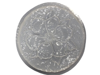 Flower stepping stone concrete mold 1007