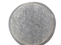 Rose and butterfly concrete plaster mold 1013