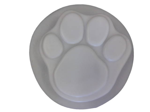 Dog Paw Print Concrete Stepping Stone Mold 1030
