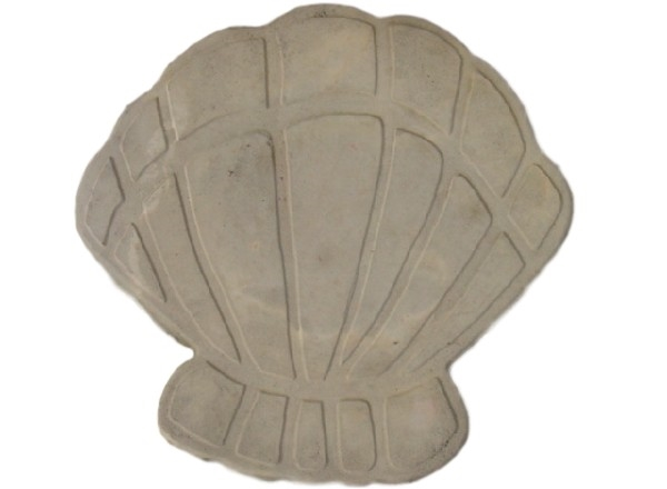Shell concrete plaster cement stepping stone mold