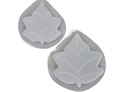 QTY 2 DECORATIVE RECESSED LEAF SOAP MOLD 4594 Moldcreations
