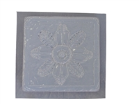 Floral concrete stepping stone mold 1065