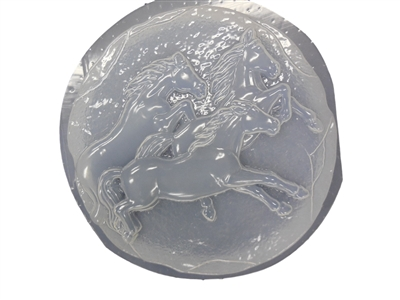 Horses concrete stepping stone mold 1074