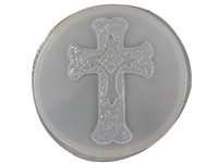 Cross concrete stepping stone mold 1078