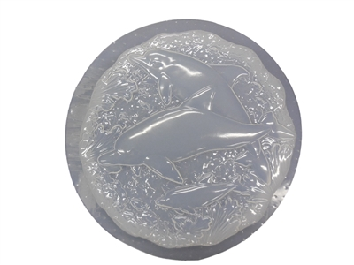 Dolphin concrete stepping stone mold 1084
