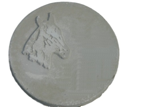 Horse Head Stepping Stone Plaster or Concrete Mold 1087 Moldcreations