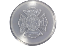 Firefighter concrete stepping stone mold 1107