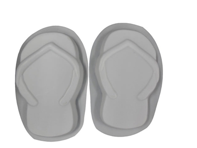 Flip flop concrete stepping stone mold 1111