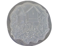 Birdhouse concrete stepping stone mold 1118