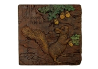 Squirrel concrete stepping stone mold 1162