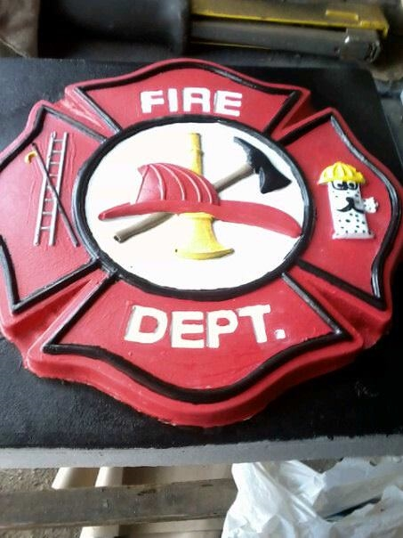 Fireman Maltese Cross Concrete Stepping Stone Mold 1170