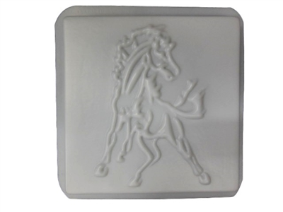 Horse concrete stepping stone mold 1187