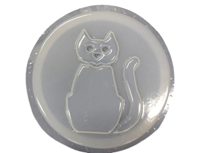 Cat Concrete Stepping Stone Mold 1192
