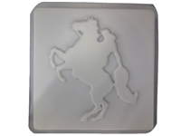 Cowgirl Horse Concrete Mold 1200