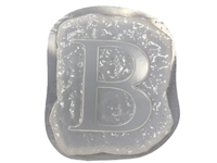 Letter B Concrete Stepping Stone Mold 1204
