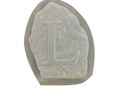 Letter L Concrete Stepping Stone Mold 1206