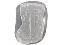 Letter J Concrete Stepping Stone Mold 1208