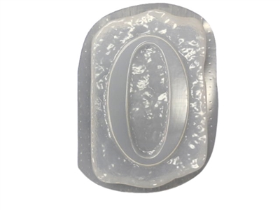 Monogram Number 0 Mold 1228