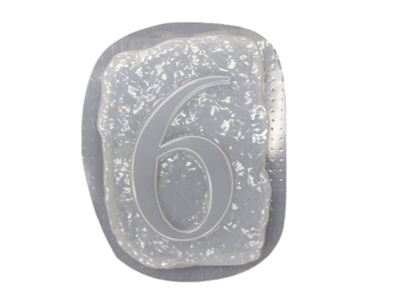 Number 6 Concrete Mold 1234