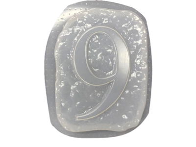 Number 9 Concrete Mold 1237