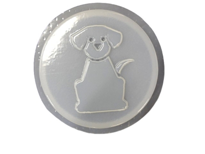 Dog concrete stepping stone mold 1249