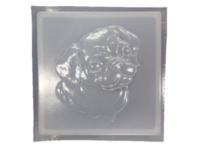 Pug Concrete Stepping Stone Mold 1253
