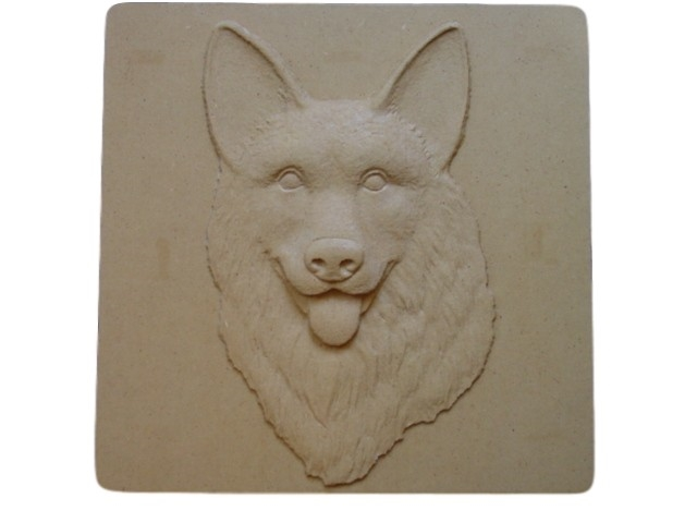 Wolf Stepping Stone Mold or Plaque Concrete Mold Concrete Mold