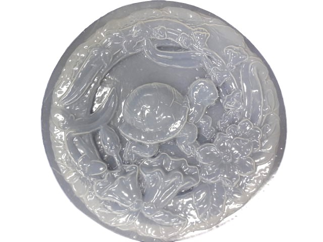 Decorative Turtle Laying Plaster or Concrete Mold 1014 Moldcreations