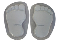 Footprints bare feet concrete stepping stone mold 1280