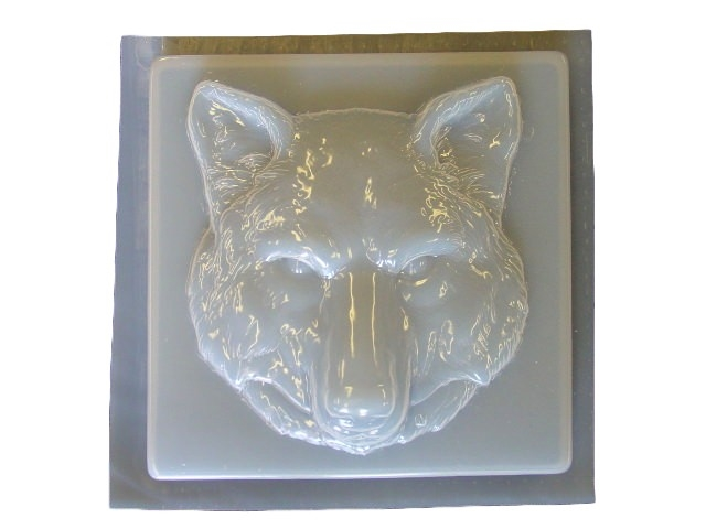 Wolf Head Concrete Stepping Stone Mold 1282