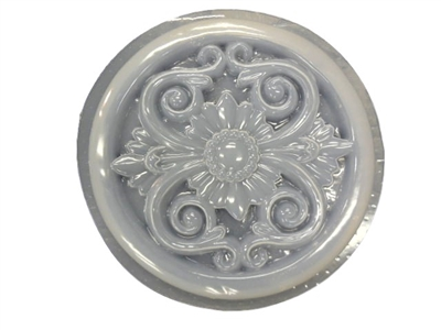Decorative floral concrete plaster mold 1301