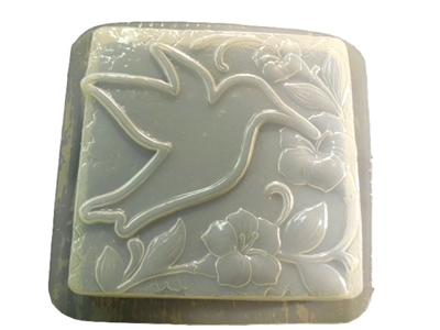 Hummingbird concrete stepping stone mold 1306