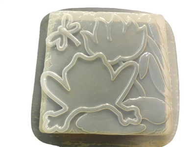 Frog Lily dragonfly concrete plaster mold 1309