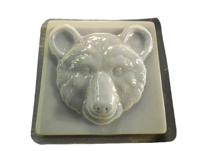 Bear Head Concrete Stepping Stone Mold 1341 Moldcreations