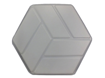 Textured Hexagon Concrete Mold 2004