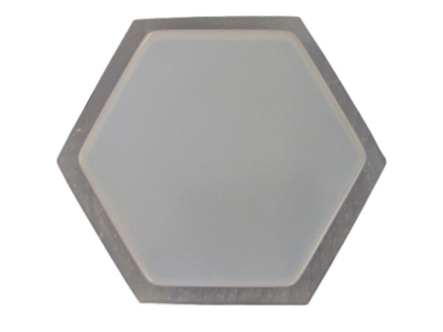 9 1 4in Plain Hexagon Concrete Stepping Stone Mold 2034