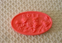 Roses Oval Bar Soap Mold 4530