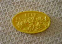 Lily Oval Bar Soap Mold 4532
