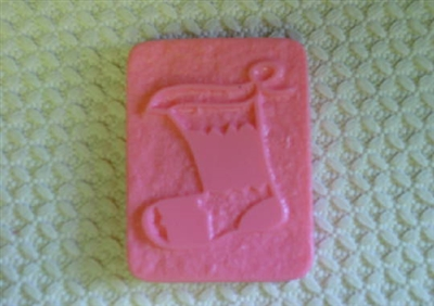 Christmas Stocking Bar Soap Mold 4574