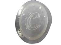 C Monogram Letter Soap Mold 4685