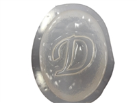 D Monogram Letter Soap Mold 4686