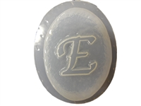 E Monogram Letter Soap Mold 4687