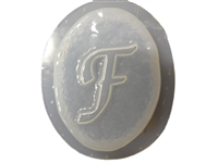 F Monogram Letter Soap Mold 4688