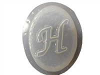 H Monogram Letter Soap Mold 4690