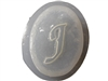 J Monogram Letter Soap Mold 4692
