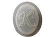 K Monogram Letter Soap Mold 4693
