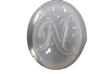 N Monogram letter Soap Mold 4696